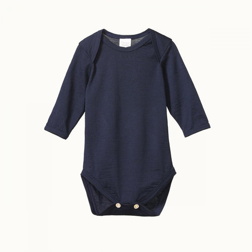 Nature Baby Merino Bodysuit -Navy