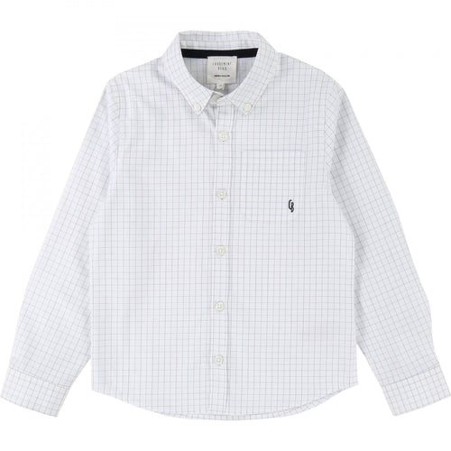 Carrement Beau Light Blue Check Shirt