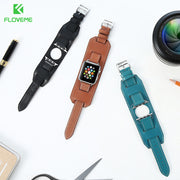 ClassiKids FLOVEME Leather Wrist Band For Apple Watch 1 or 2 Series Luxury Leather