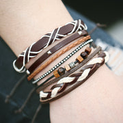 ClassiKids 17KM New multiple layers punk wood bead bracelet