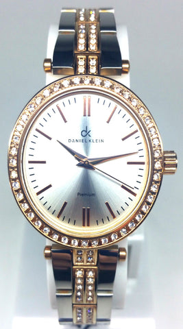 Analog Diamond  Two Tone Watch - Rose Gold