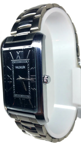 Analog Square Case Watch - Silver