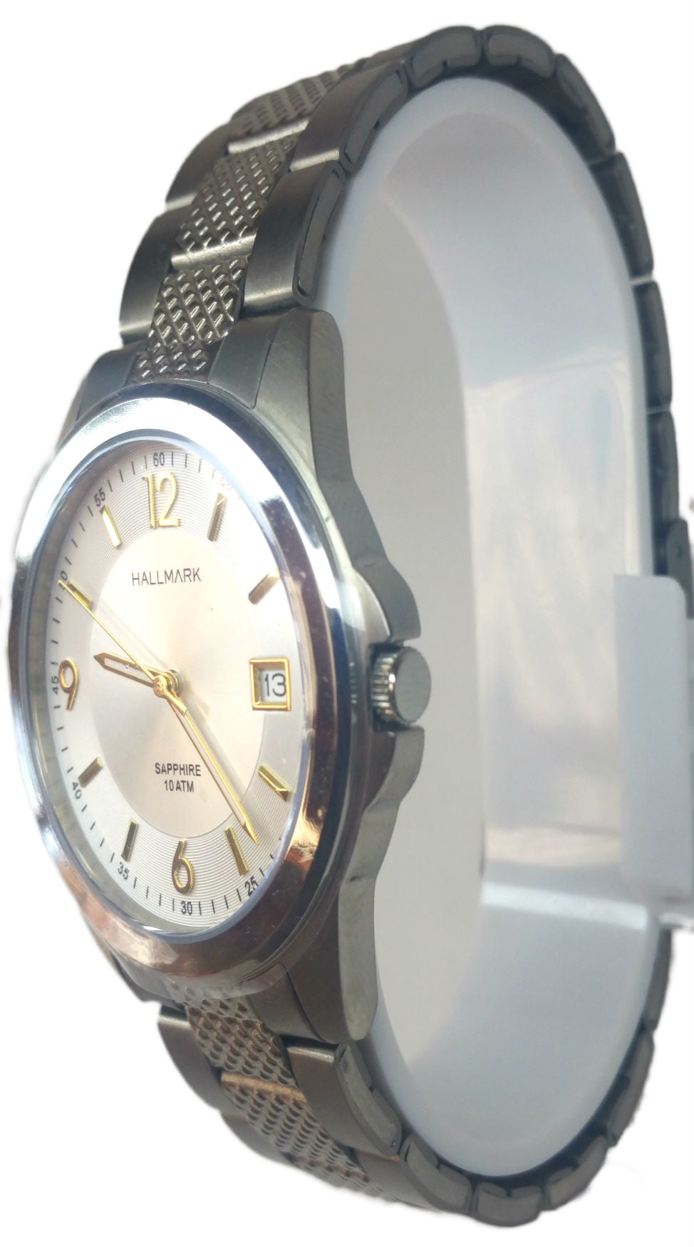 Elegant Day/Date Analog Watch - Silver