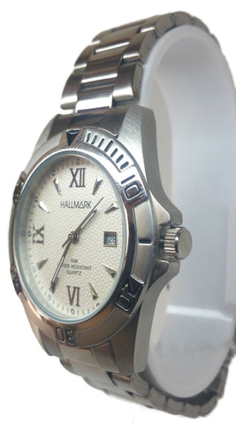 Graceful Day/Date Analog Watch - Silver
