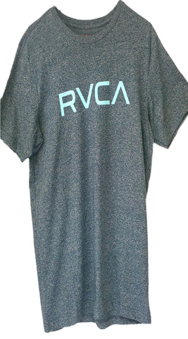 RVCA Logo T-Shirt - Blue Tide