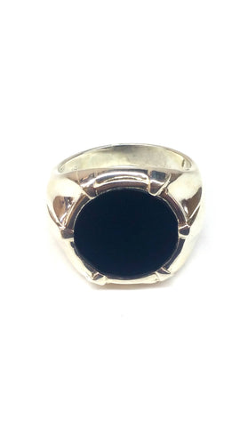 Sterling Silver Ring - Black - Size: Big [1]