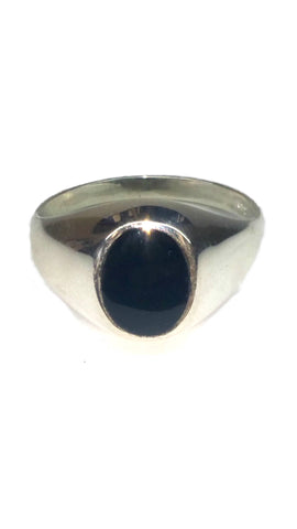 Sterling Silver Ring - Black - Size: Large [2]
