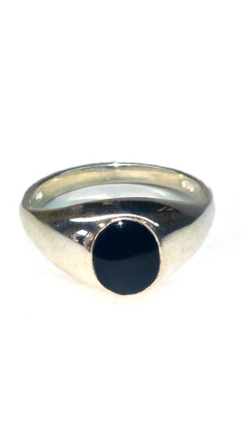 Sterling Silver Ring - Black - Size: Medium [3]