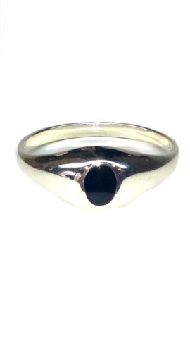 Sterling Silver Ring - Black - Size: Small [4]