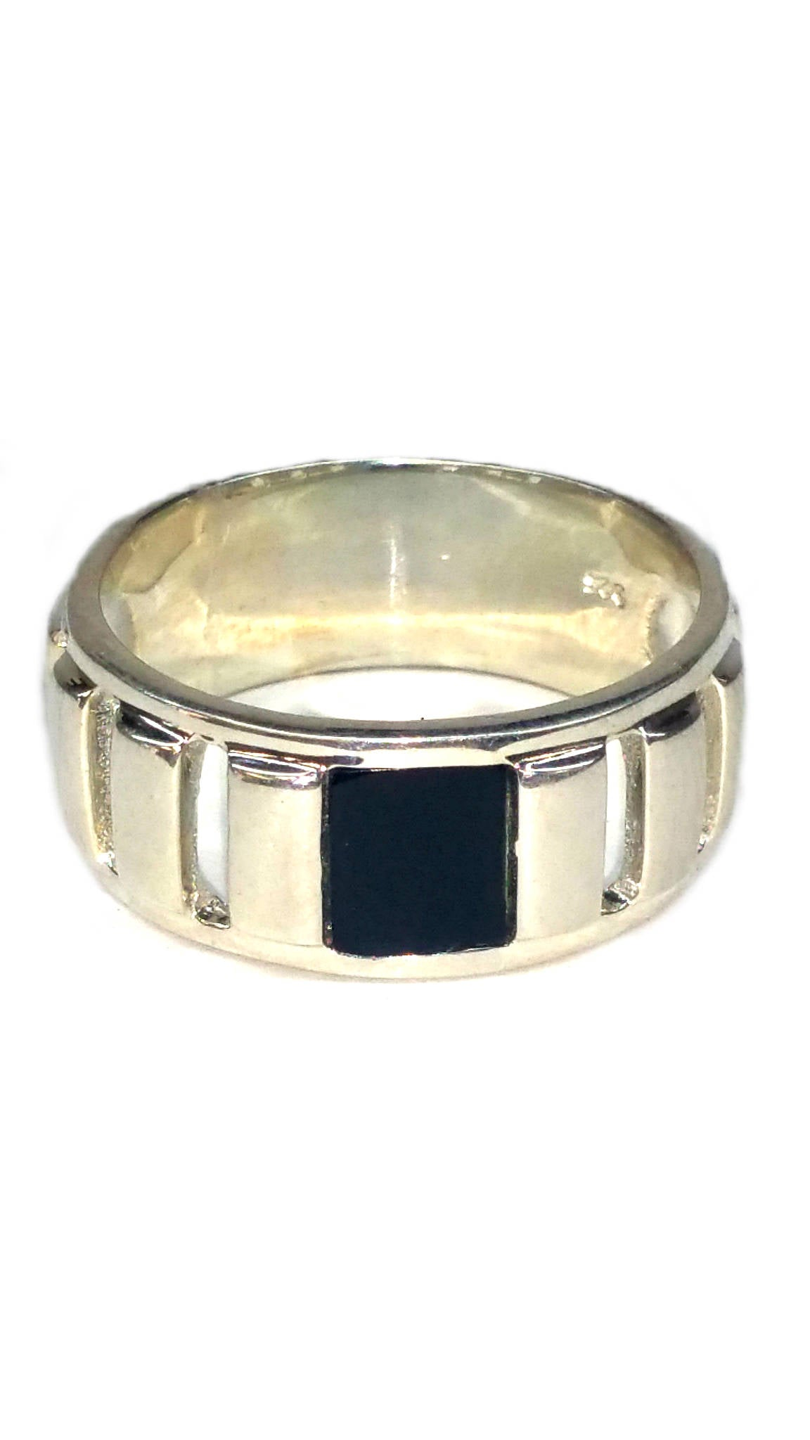Custom Sterling Silver Ring - Black [6]