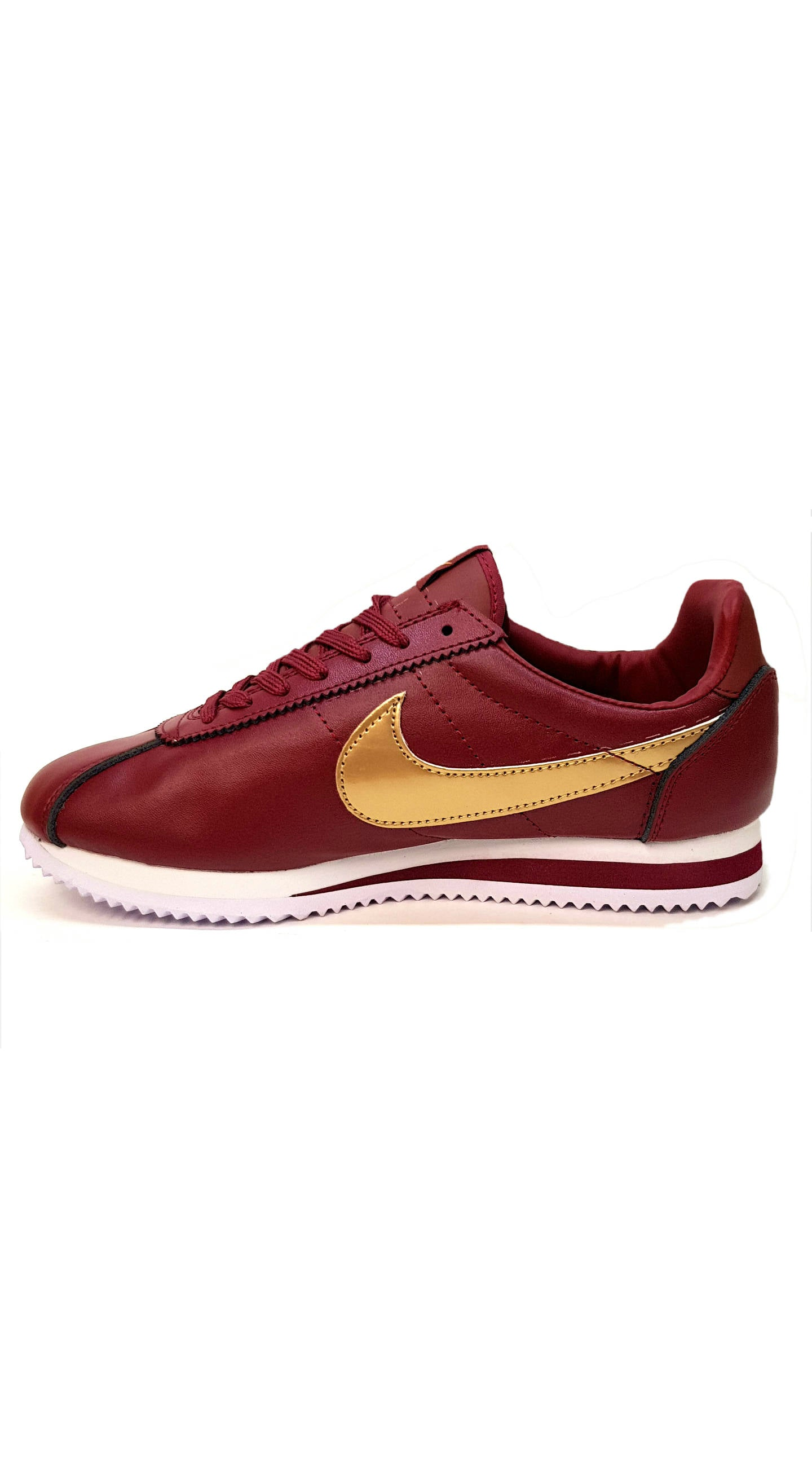 more photos 8c453 1056a Cortez Premium Leather - Maroon/Gold