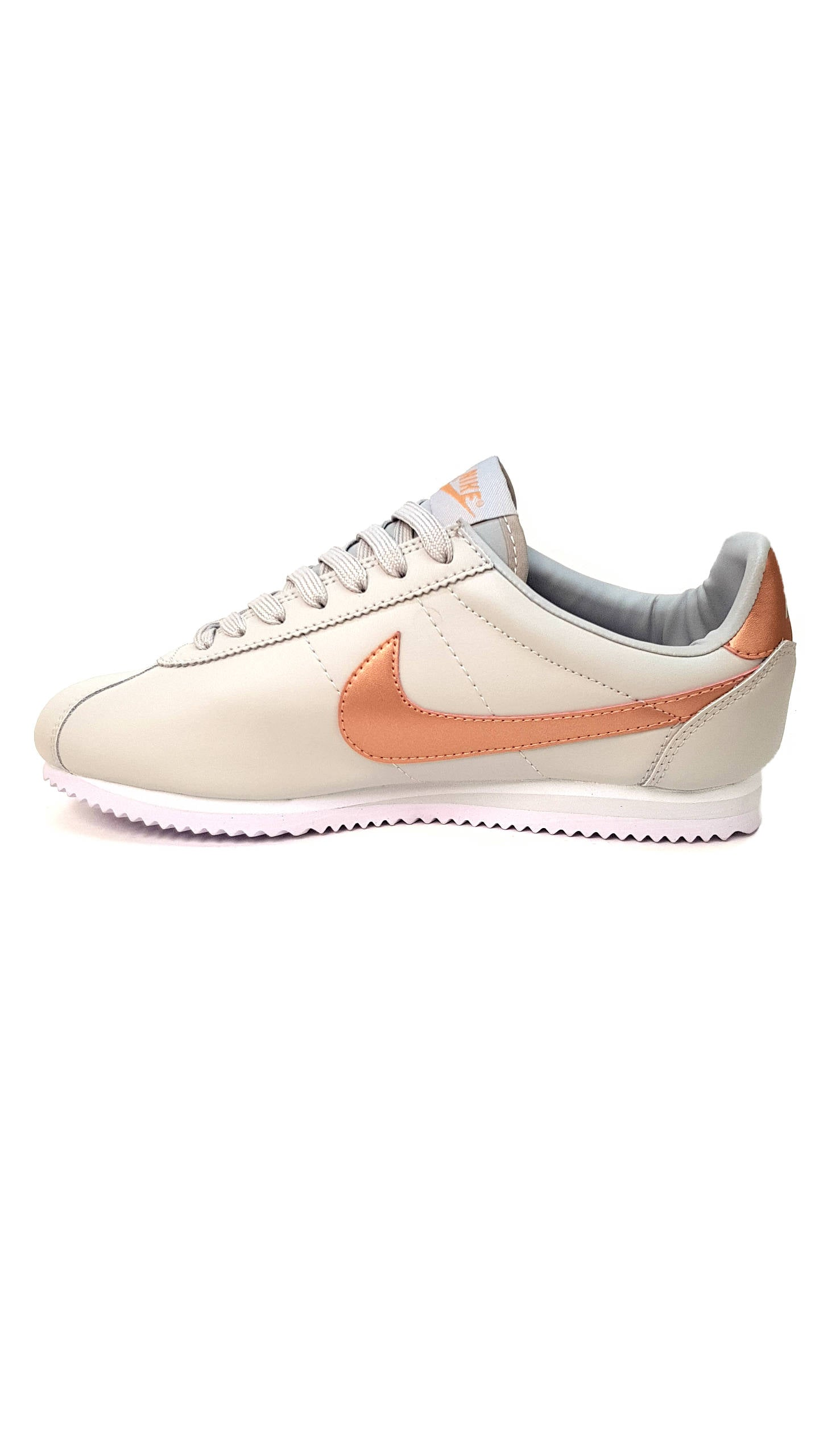 Cortez Premium Leather -Grey/Gold