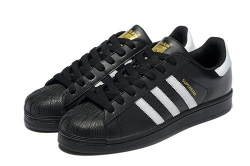Adidas Superstar Black/White Stripes