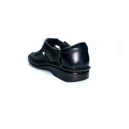 Closed Back Casual Sandals - Black