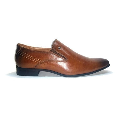 Pattern Formal Slip On - Tan