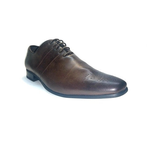Formal Brogue Lace Up - Brown