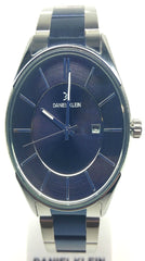 Analog Two Tone Watch - Blue/Silver