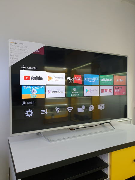 Televizor Android Philips Ambilight 139cm 55PUS6412/12