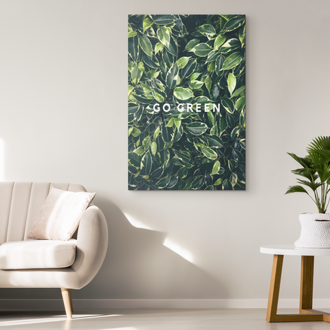 Go Green - Blend On Canvas