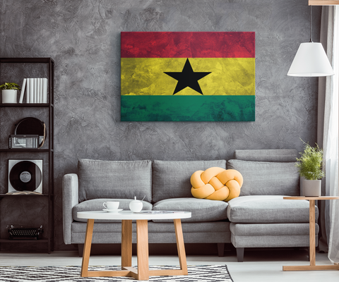 Flag Of Ghana - Blend On Canvas