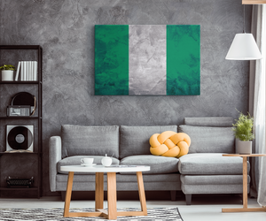 Flag Of Nigeria - Blend On Canvas
