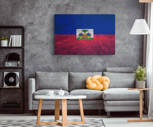 Flag Of Haiti - Blend On Canvas