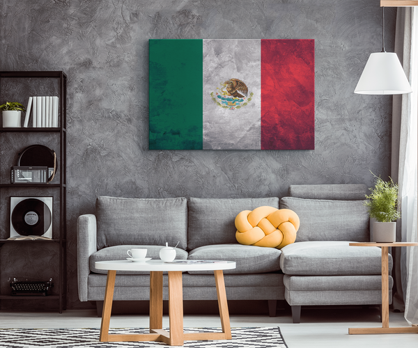 Flag Of Mexico - Blend On Canvas