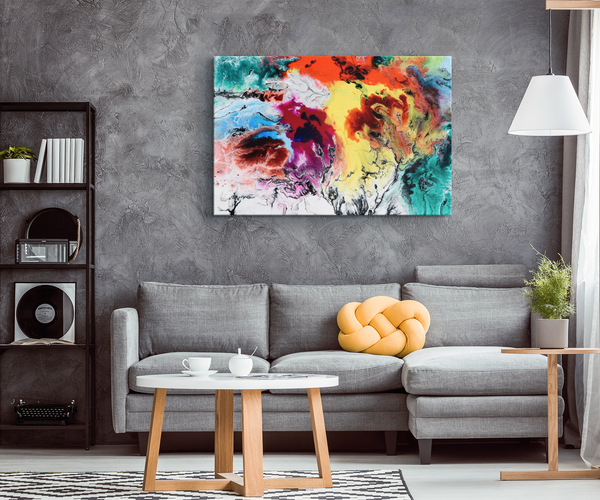 Rainbow Ocean - Blend On Canvas
