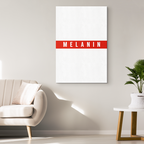 Red Stripe Melanin - Blend On Canvas