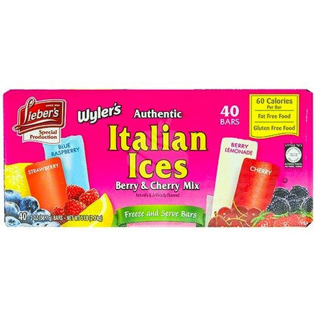 Liebers Italian Ices Mixed 40 Bars