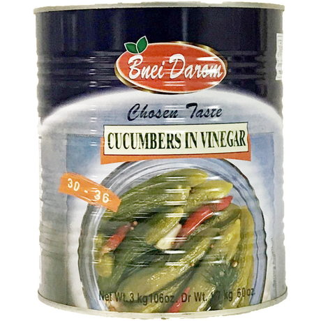 Bnei Darom Cucumbers In Vinegar 3Kg