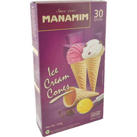 Manamim Ice Cream Cones 30 Pack 120G
