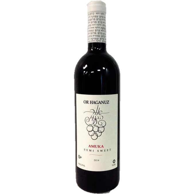 Or Haganuz Amuka Semi Sweet Wine 750Ml
