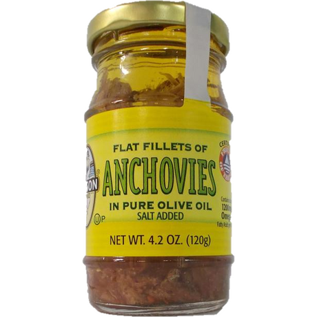 Season Flat Anchovies In Olive Oil 120G