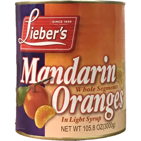 Liebers Mandarin Orange Whole Segments 3Kg