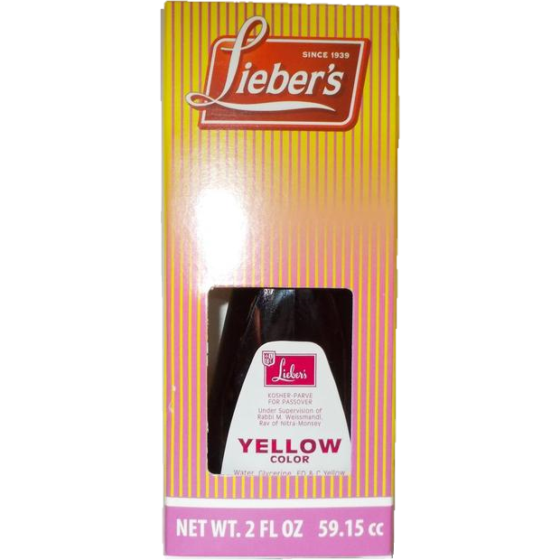 Liebers Food Colouring Yellow 56G