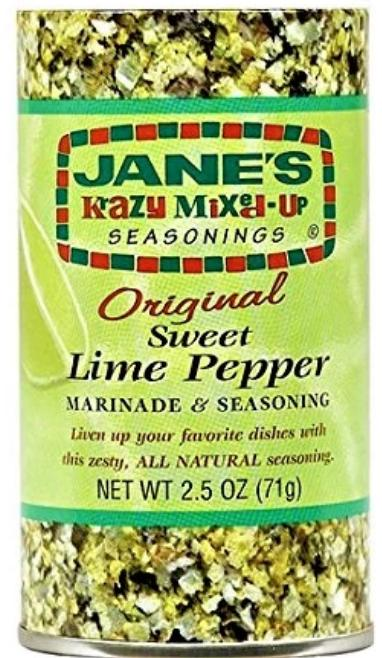 Janes Krazy Mixed Up Lime Pepper Marinade 71g