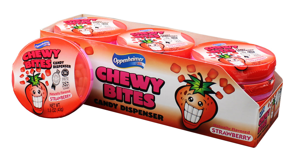 Chewy Bitz Strawberry In Dispencer 43G