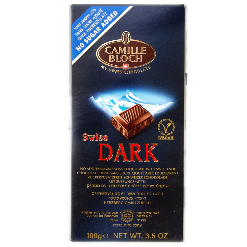 Camille Bloch Dark Sugar Free Chocolate 100G