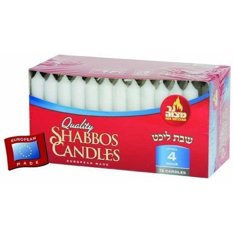 Ner Mitzvah Long Candles 72 Pack