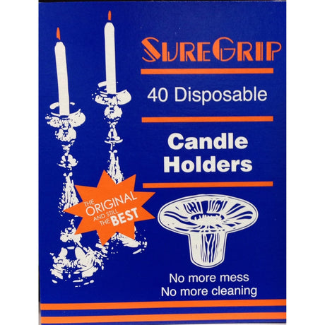 Sure Grip Candle Holders 40 Pack