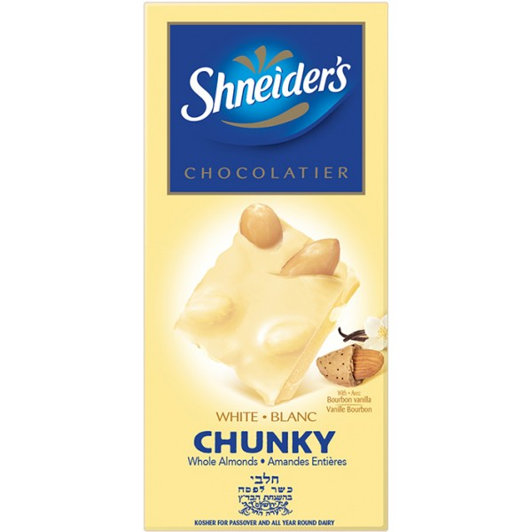 Shneider Chunky White/Almonds 180G