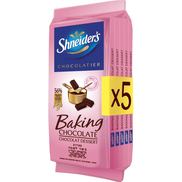 Shneiders Baking Chocolate Bars 5 X 100G