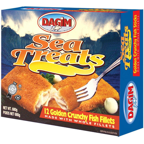 Dagim Crunchy Breaded Fish Fillets 680G