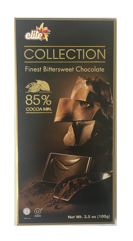 Elite Bitter Sweet Chocolate 85% Cocoa 100G