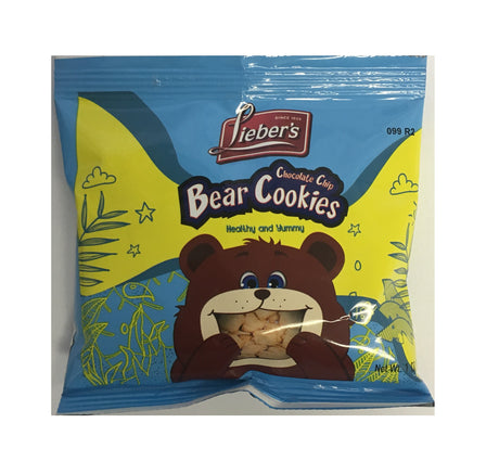 Liebers Choc Chip Bear Cookie 28G