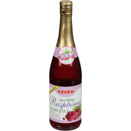 Kedem Sparkling Raspberry Grape Juice 750Ml