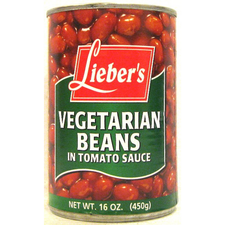 Liebers Vegetarian Beans In Tomato Sauce 450G