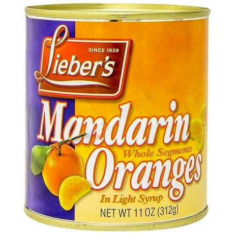 Liebers Mandarin Orange Whole Segments 312G