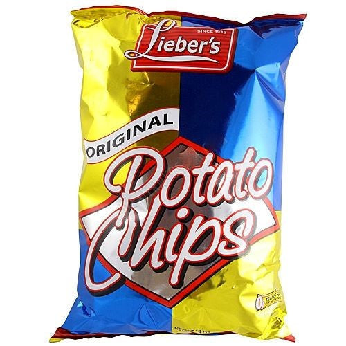 Liebers Potato Chips Original 396G